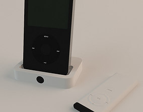 Ipod with remote and charger 3D