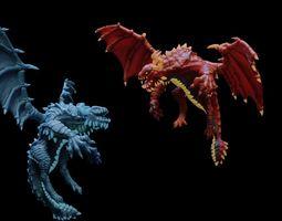 Elemental Dragon 3D asset