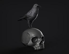 Raven and Skull 3D printable model