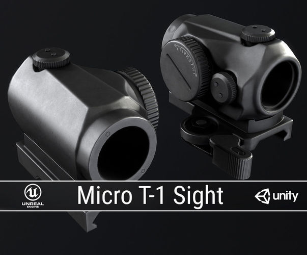 pbr micro t-1 sight 3d model obj fbx ma mb dae tga 1