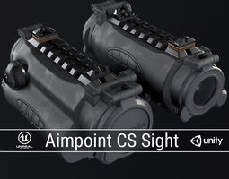 PBR Aimpoint CS Sight 3D asset