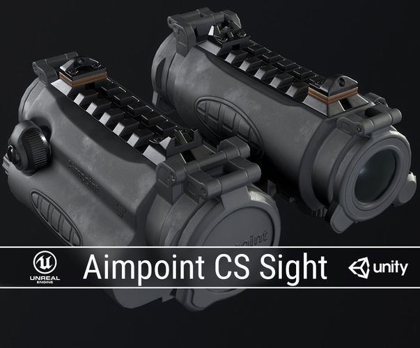 pbr aimpoint cs sight 3d model obj fbx ma mb dae 1