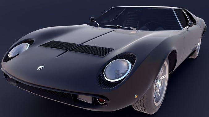 3d Lamborghini Miura Cgtrader