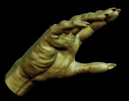 Creepy Monster Hand model for 3D print