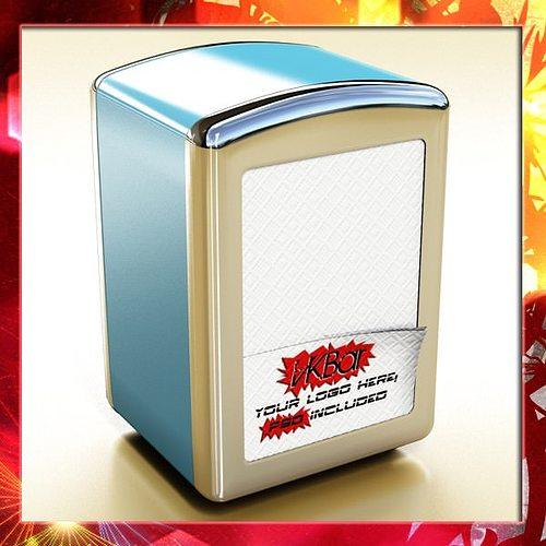 napkin dispenser 1 3d model max obj 3ds fbx mtl mat 1