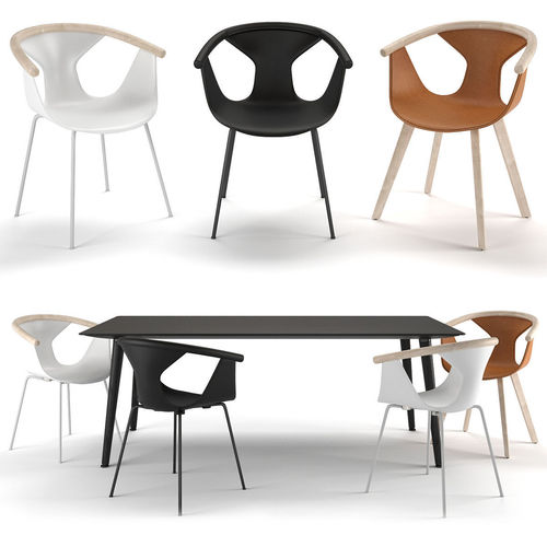 Pedrali Chairs Fox Table Babila TBA 3D Model