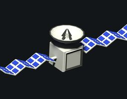 Low Poly Satellite 3D asset
