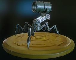 Robot helper 3D asset