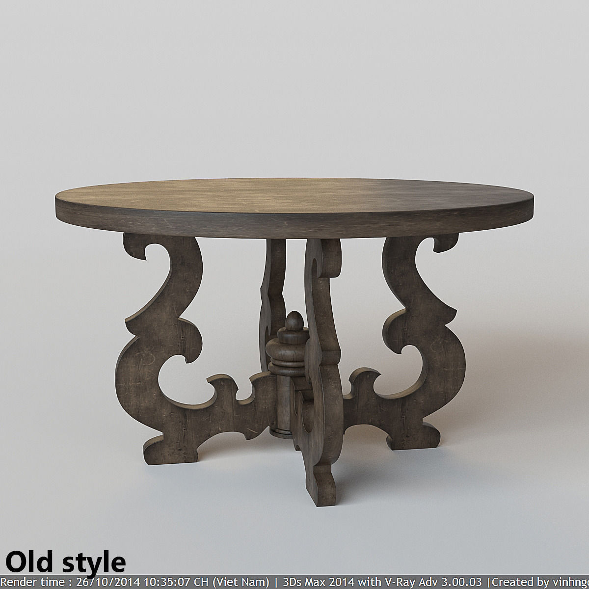 french country round dining table 3d model max fbx 4  French Country Round Dining Table 3D model   CGTrader. French Country Dining Tables. Home Design Ideas