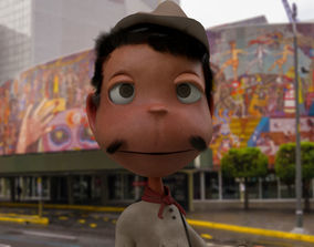 3D model Cantinflas cartoon