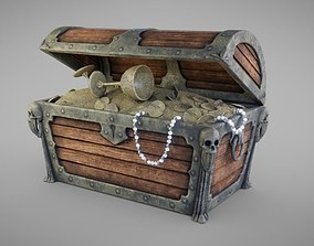 3D asset VR / AR ready Treasure Chest