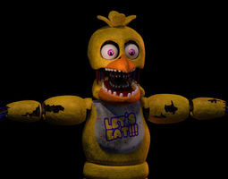 Withered Chica 3D rigged
