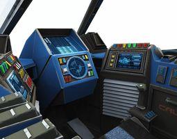 Space fighter Cockpit - Starfighter Hades MK2 3D asset
