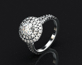 Engagement ring jewelry bridal 3D printable model