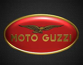 moto guzzi logo 2 3D