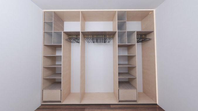 Superieur Closet Wood Or Wardrobe And Cabinet   Collection 3d Model Max 14