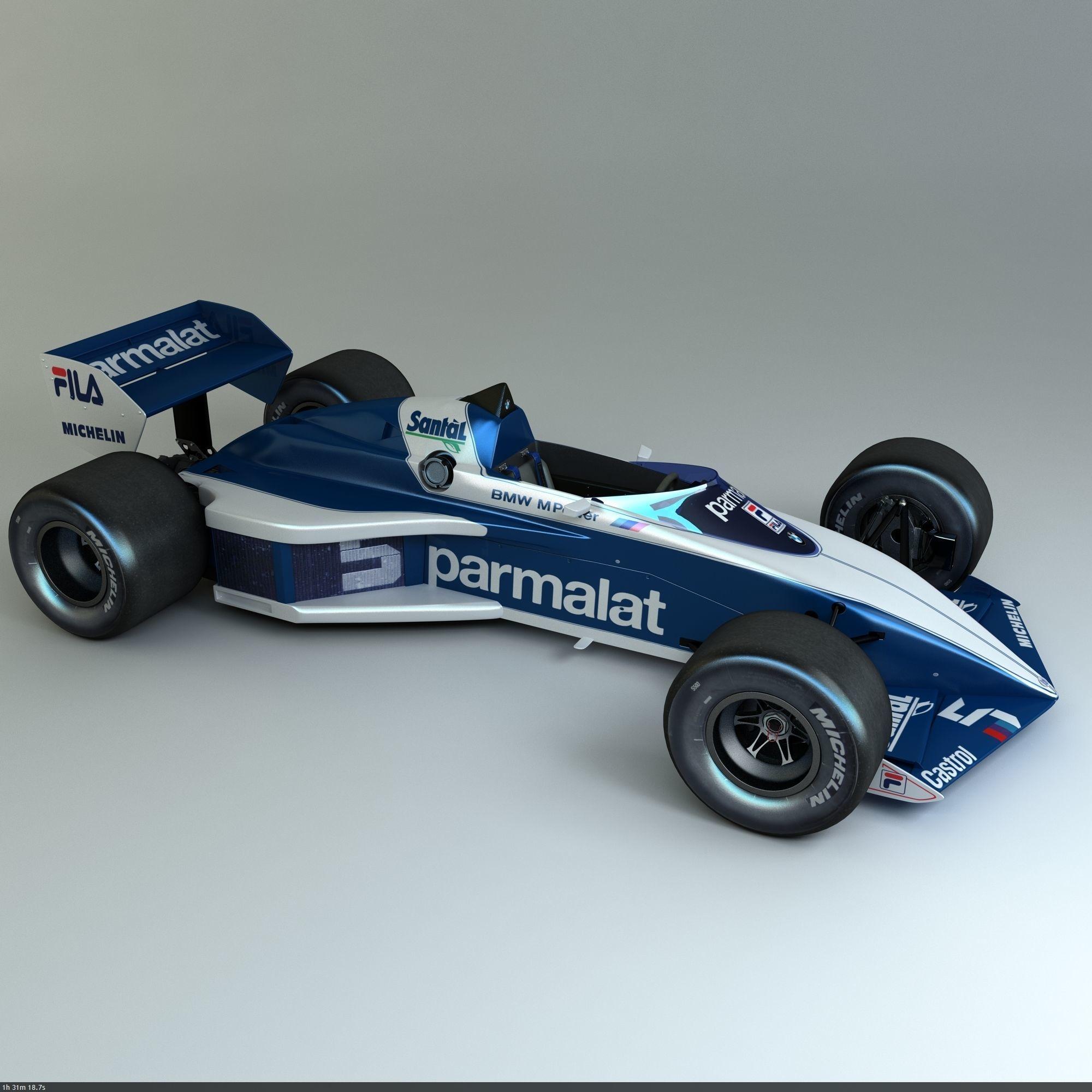 3D model 1983 Formula 1 Brabham BT52B | CGTrader
