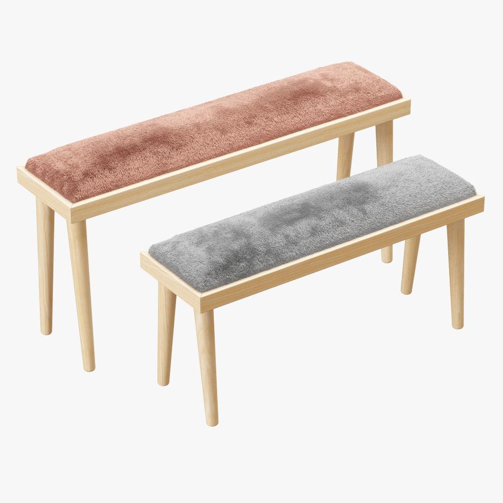 sheepskin sheepstl low ivory stool h bench