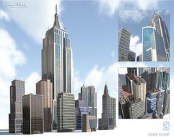 3D model High Rise City Building BUNDLE