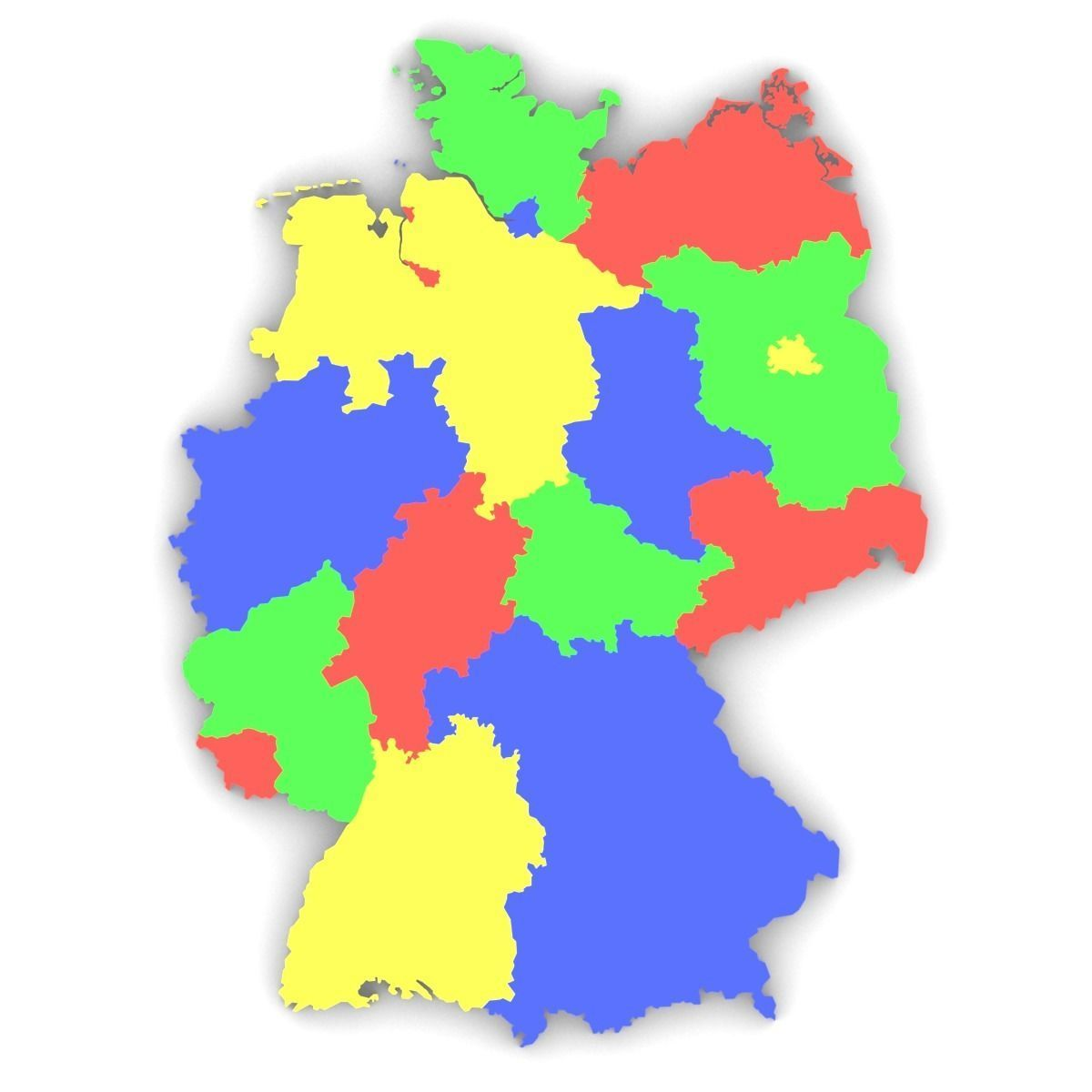 Map Of Germany 3d.Map Of Germany 3d Model Cgtrader