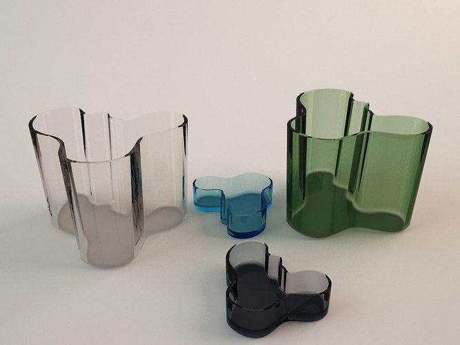 ittala alvar aalto vase 3d model - Aalto Vase