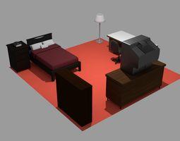 Animated Bedroom Furniture Asset Pack