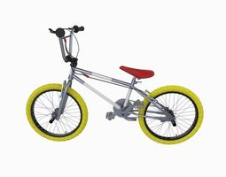 low-poly bmx bike 3d asset