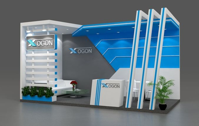 Exhibition Booth Number : D exhibition booth m sides open cgtrader
