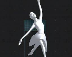 ballerina 2 3D print model