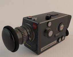 Leitz Leicina Super-8 Camera 3D Model