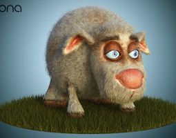 Sheep Dog for production render in Corona 3D model