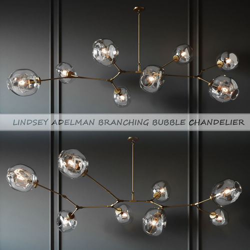 branching bubble 8 lamps gold by lindsey adelman  3d model max obj mtl 1