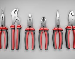 plier set 3D model industrial