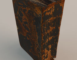 Old Book Bible 3D model