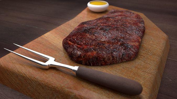 meat concept 3d model obj mtl fbx ma mb mel 1