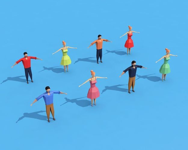 low poly rigged characters  3d model low-poly rigged max obj fbx c4d ma mb mtl 1
