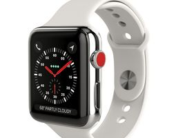 Apple Watch Series 3 Cellular 42mm Stainless Steel 3D