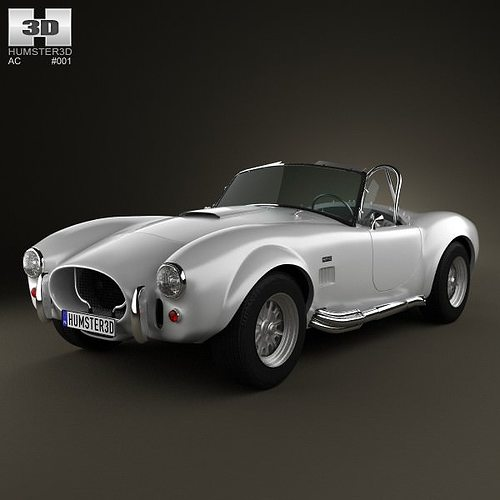ac shelby cobra 427 1965 3d model cgtrader. Black Bedroom Furniture Sets. Home Design Ideas
