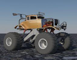 Hotrod Monster Truck 3D