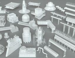 pipe 3D Factory Units-part-1 - 32 pieces