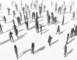 3D asset Low Poly Posed People Pack 8