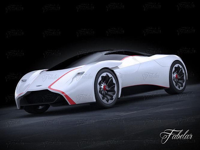 aston martin dp100 concept 3d model rigged max obj 3ds fbx c4d dae 1