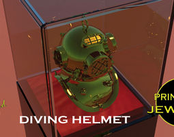 Printable Diving Helmet Pendant