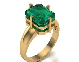 3D printable model Ring with emerald