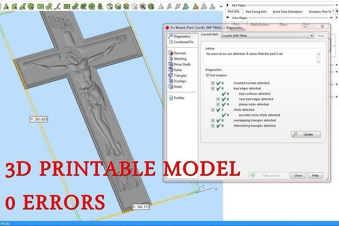 crucifix for cnc 3d router 3d model obj mtl stl amf 1