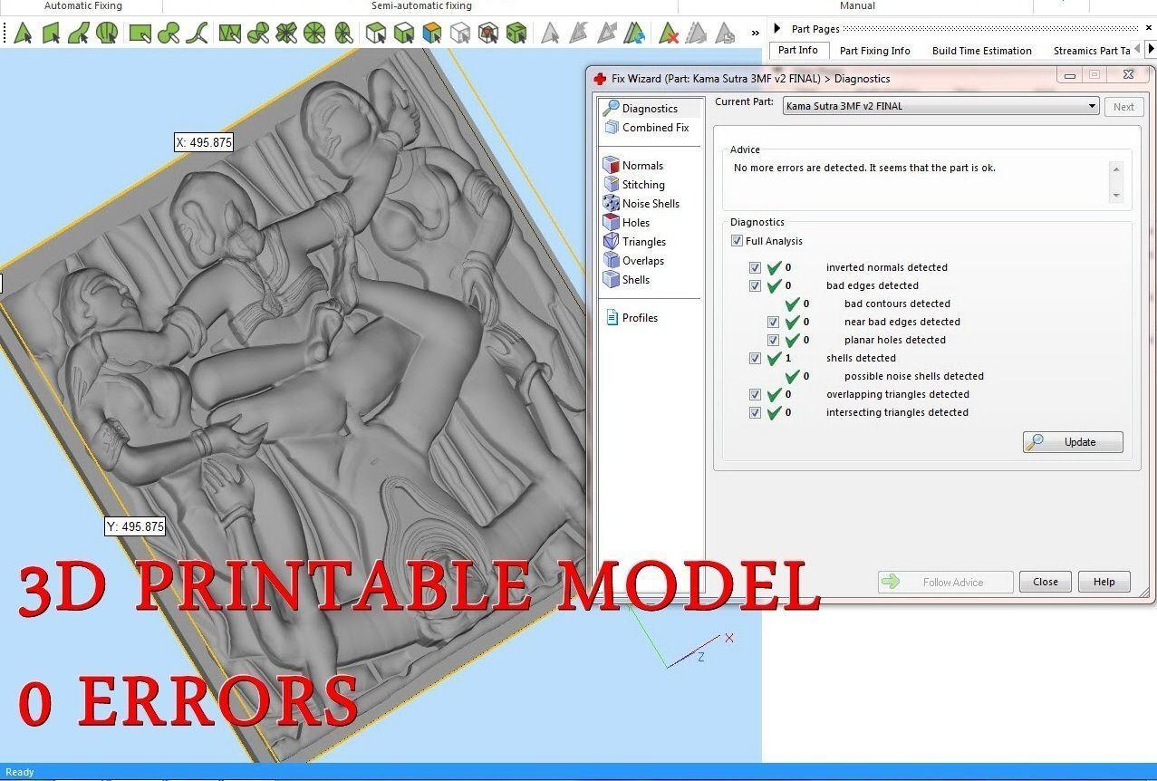 Kama Sutra Basorelief for CNC 3D Router
