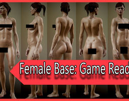 3D asset Realistic Female Game Ready fully Rigged