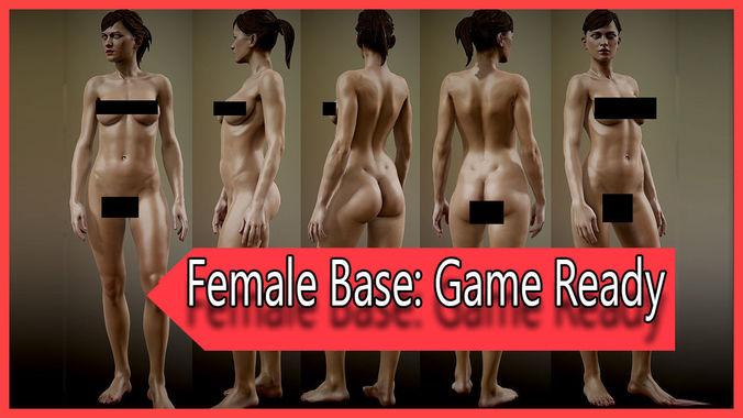 realistic female game ready fully rigged 3d model rigged max fbx ma mb ztl tga pdf 1