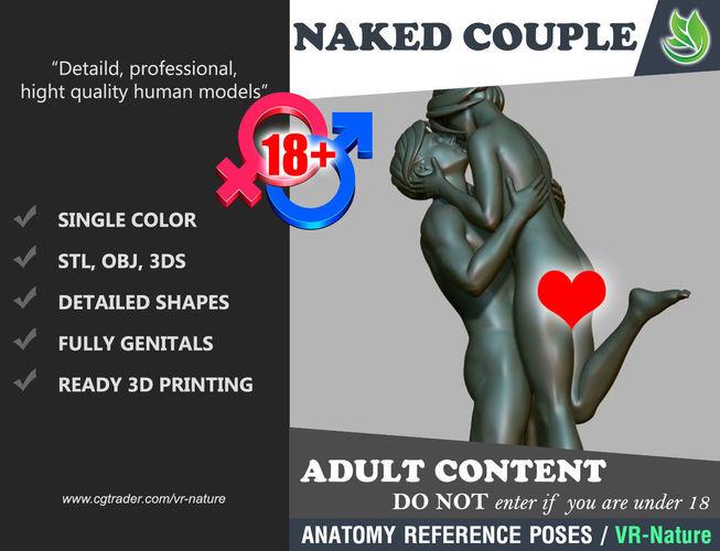 3d couple of lovers printable 180226-01 3d model obj mtl 3ds stl 1