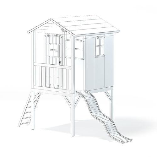 children house with a slide 3d model 3d model max obj mtl fbx c4d 1
